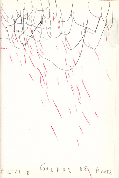 pluie couleur de honte