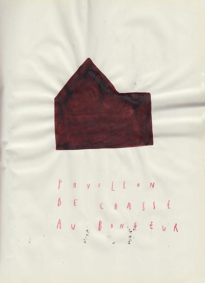pavillon de chasse au bonheur, 25 x 18,5 cm