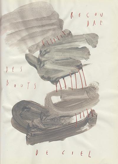 recoudre des bouts de ciel, 25 x 18,5 cm