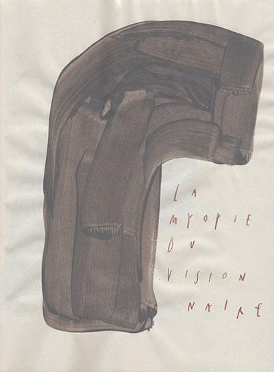 la myopie du visionnaire, 25 x 18,5 cm