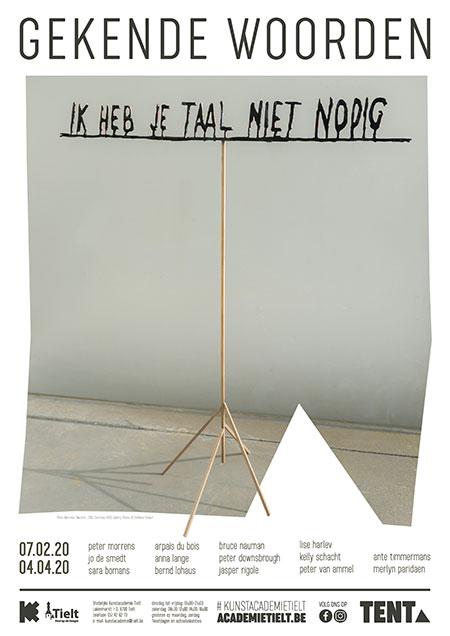 Affiche GEKENDE WOORDEN - Stedelijke Kunstacademie Tielt